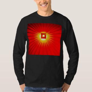 Explosión mongol de la luz remeras