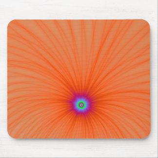Explosión Mousepad del color de la mandarina Tapete De Ratón
