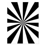 Explosión negra y blanca de la estrella tarjeta postal