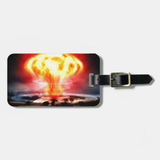 Explosión nuclear etiquetas de equipaje