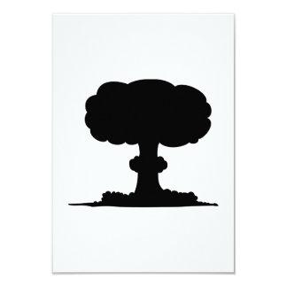 """Explosión nuclear invitación 3.5"""" x 5"""""""