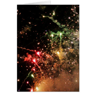 Explosion of Color Notecard - vertical Stationery Note Card