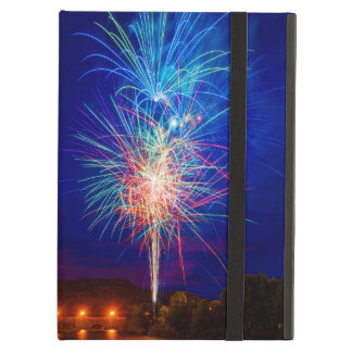 Explosion of colors in fireworks iPad air case