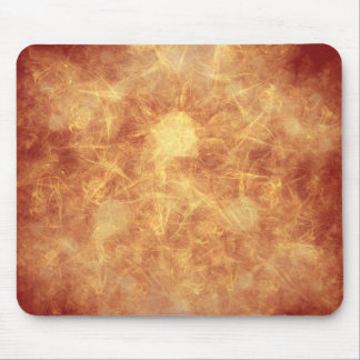 Explosion of Orange Mouse Pad