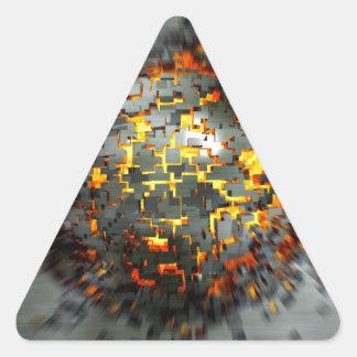 Explosión Pegatina Triangular