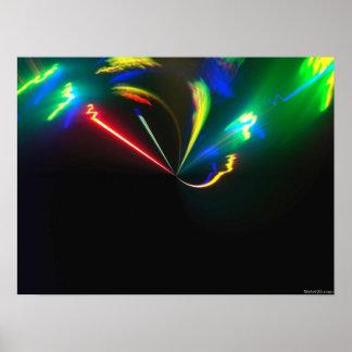 explosión psicodélica del color poster