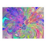 Explosión que brilla intensamente del color postal