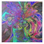 Explosión que brilla intensamente del color - trul azulejos cerámicos