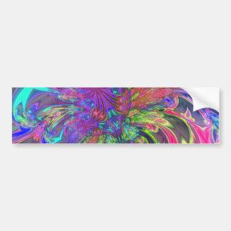 Explosión que brilla intensamente del color - trul pegatina de parachoque