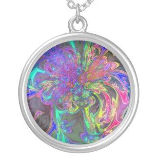 Explosión que brilla intensamente del color - trul colgante personalizado