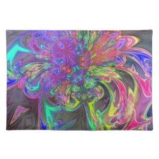 Explosión que brilla intensamente del color - trul manteles individuales