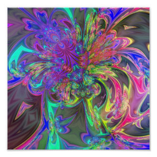 Explosión que brilla intensamente del color - trul poster