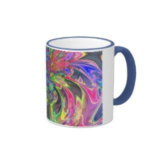 Explosión que brilla intensamente del color - trul tazas