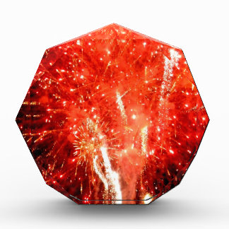 Explosion Red Acrylic Award
