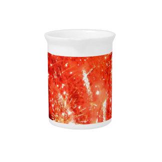 Explosion Red Beverage Pitcher