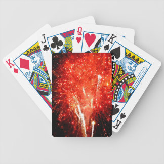 Explosion Red Bicycle Playing Cards