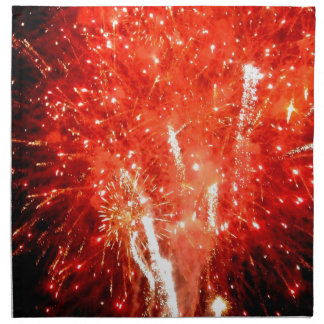 Explosion Red Cloth Napkin