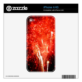 Explosion Red Decal For iPhone 4
