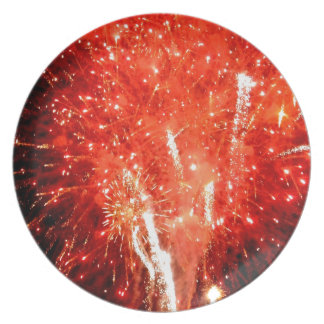 Explosion Red Dinner Plate