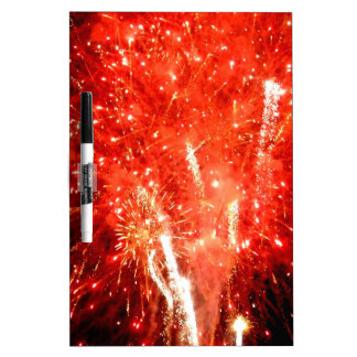Explosion Red Dry Erase Board