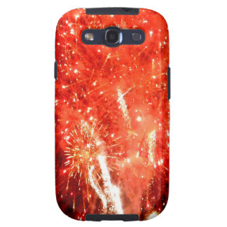 Explosion Red Galaxy S3 Cover