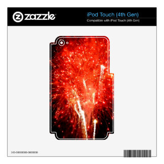Explosion Red iPod Touch 4G Skins