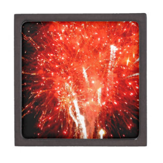 Explosion Red Keepsake Box