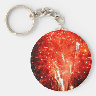 Explosion Red Keychain