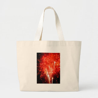 Explosion Red Large Tote Bag