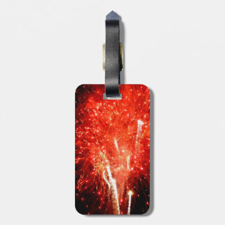 Explosion Red Luggage Tag