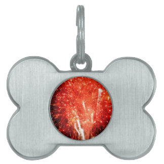 Explosion Red Pet ID Tag