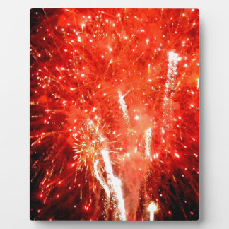 Explosion Red Plaque