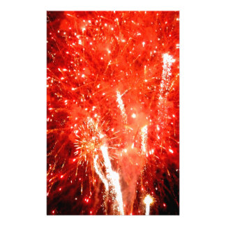 Explosion Red Stationery