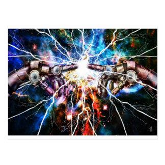 Explosión robótica tarjetas postales