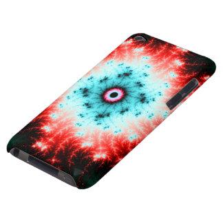Explosión roja y azul de Big Bang - del fractal iPod Touch Cárcasas