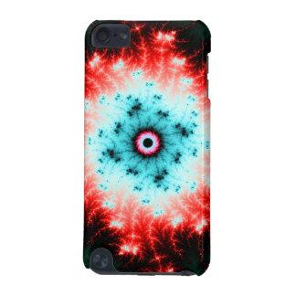 Explosión roja y azul de Big Bang - del fractal