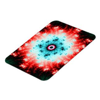 Explosión roja y azul de Big Bang - del fractal Iman Rectangular