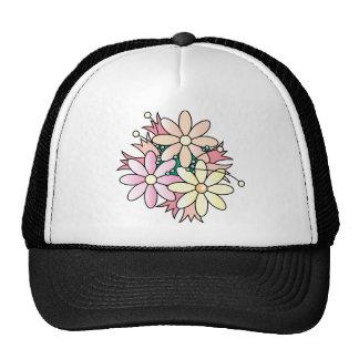Explosión rosada de la flor gorra