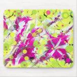 Explosión rosada del color de la flor alfombrilla de ratón