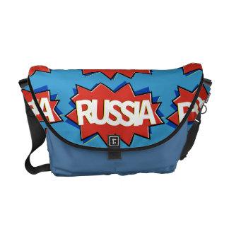 Explosión rusa de la estrella de la bandera bolsas de mensajeria