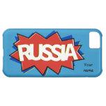 Explosión rusa de la estrella de la bandera funda para iPhone 5C