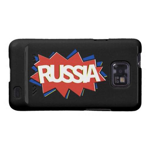 Explosión rusa de la estrella de la bandera galaxy s2 funda