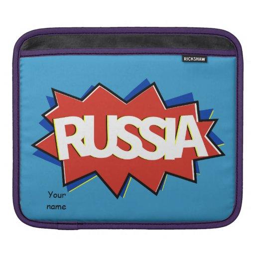 Explosión rusa de la estrella de la bandera mangas de iPad