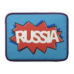 Explosión rusa de la estrella de la bandera funda para macbook air