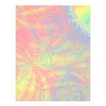 Explosión solar, arte del fractal. Colorido Membrete Personalizado