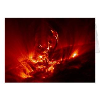 explosión solar tarjeta de felicitación
