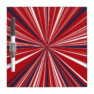 explosión tridimensional en colores patrióticos pizarras