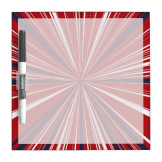 explosión tridimensional en colores patrióticos pizarras blancas