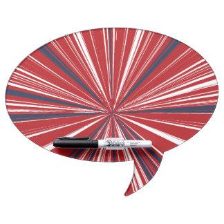 explosión tridimensional en colores patrióticos pizarras blancas de calidad