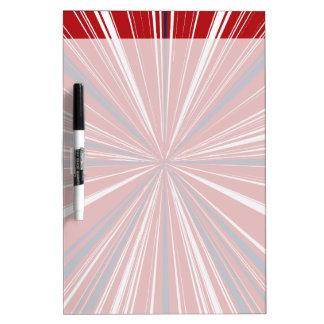 explosión tridimensional en colores patrióticos tablero blanco